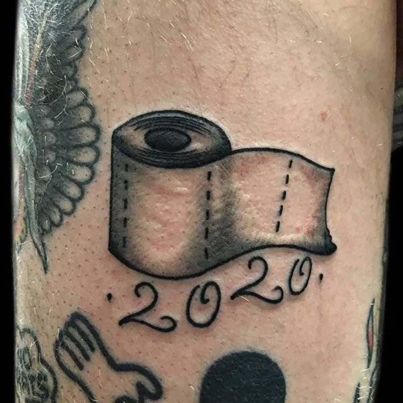 Татуировки посвященные вирусу COVID-19