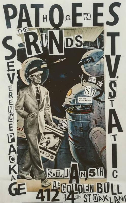 Проект «Brainless punk flyers» : коллажи из газетных вырезок, буковки, все как нужно