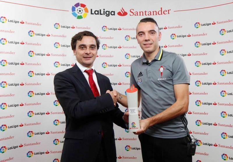 Яго Аспас стал лучшим игроком испанской Ла Лиги в октябре.