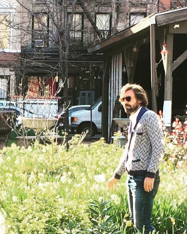 Пирло наслаждается жизнью в Нью-Йорке