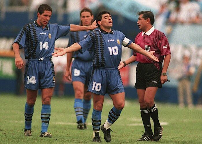 Марадона, Симене и Редондо