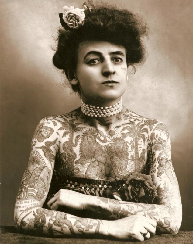 Мод Вагнер, первая женщина-татуировщик, США, 1907 год