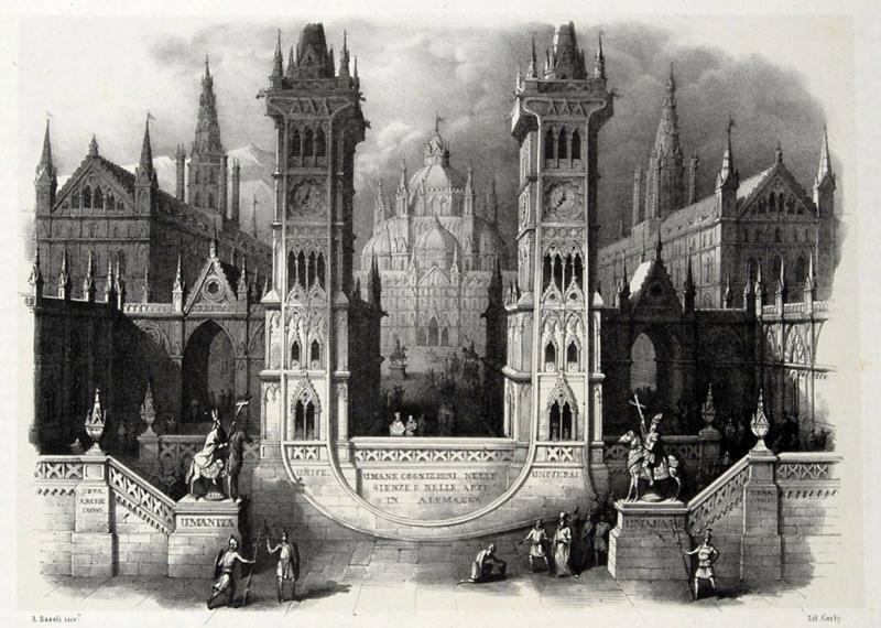 Архитектурный алфавит Antonio Basoli, 1843