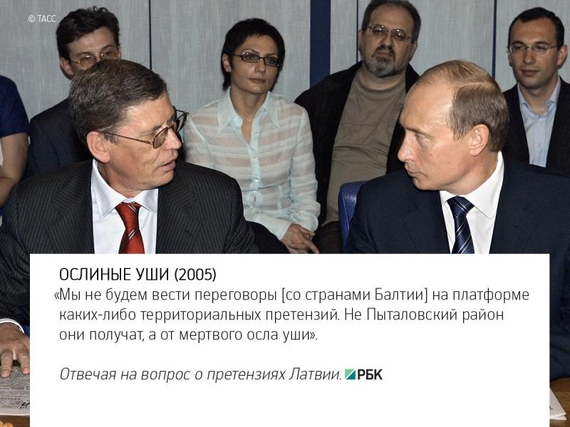 Ключевые цитаты российского президента