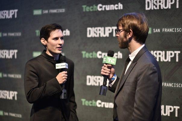 TechCrunch Disrupt SF 2015 Сан-Франциско, 21 сентября, 22:25 - 22:47 Pavel Durov and Mike Butcher