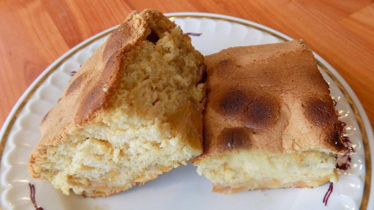 Яблочный пирог на заливном тесте. Сладкий пирог с яблоками.  Вкусная выпечка к чаю