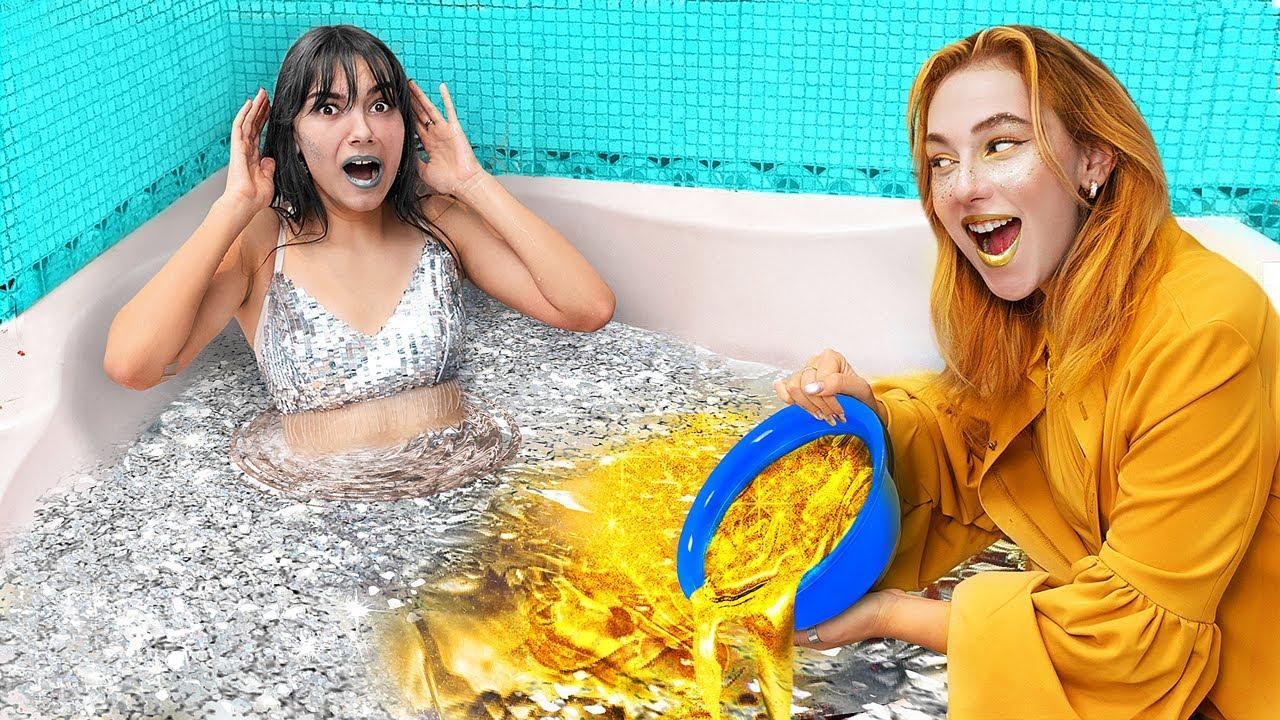 Золотая девушка vs серебряная девушка / Цветной челлендж!