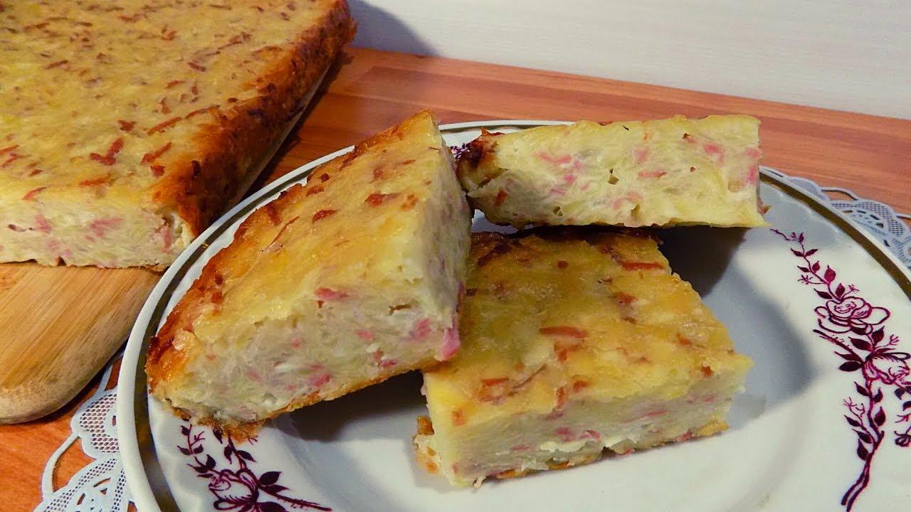 Картофельная запеканка с сосисками и сыром приготовленная в духовке. Простой рецепт