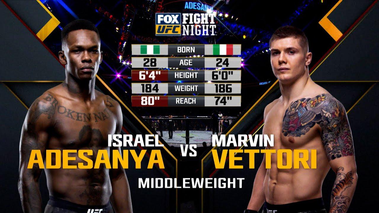UFC 263 Free Fight: Israel Adesanya vs Marvin Vettori 1