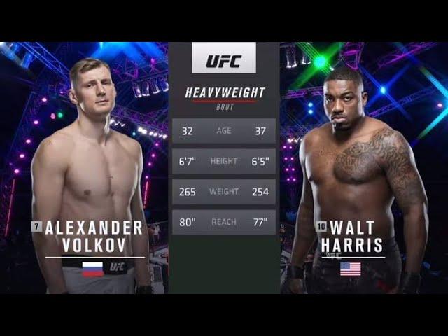 Александр Волков vs Уолт Харрис: Вспоминаем бой