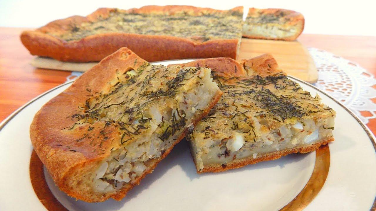 Заливной пирог с рыбными консервами. Рыбный пирог с рисом и яйцом на заливном тесте. Простой рецепт
