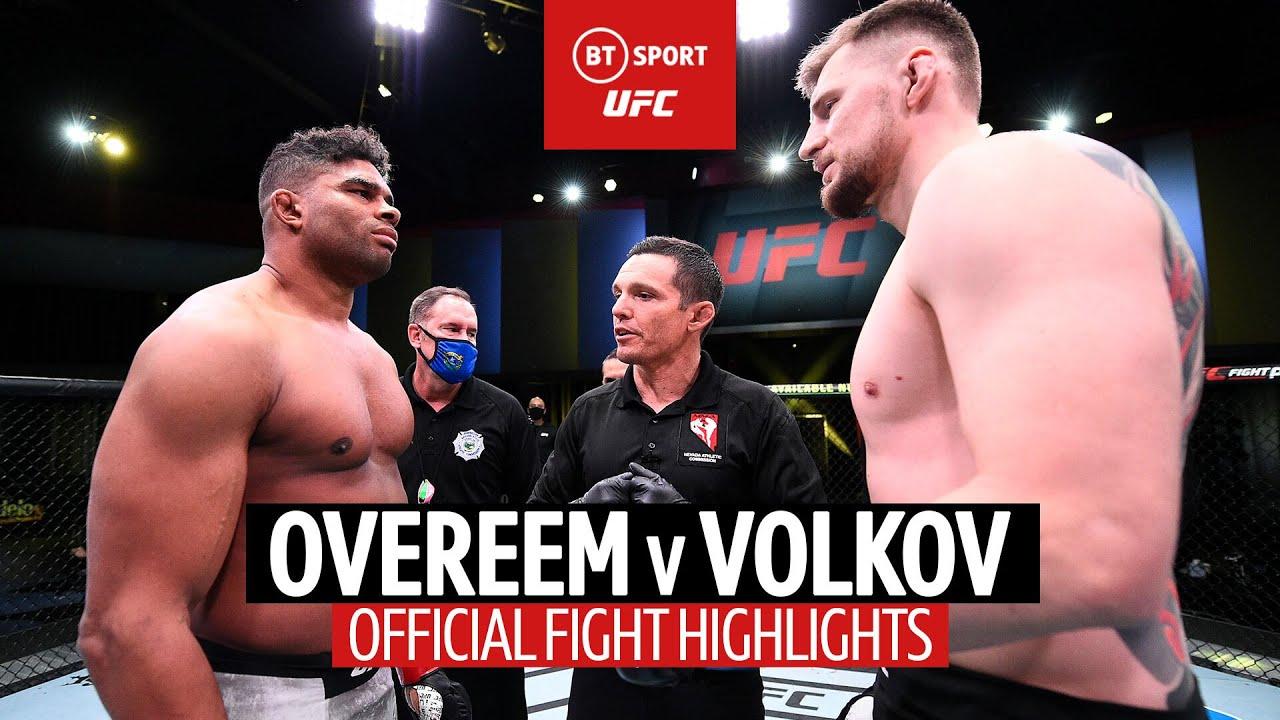 Alexander Volkov stops Alistair Overeem with big signature finish at UFC Fight Night Las Vegas