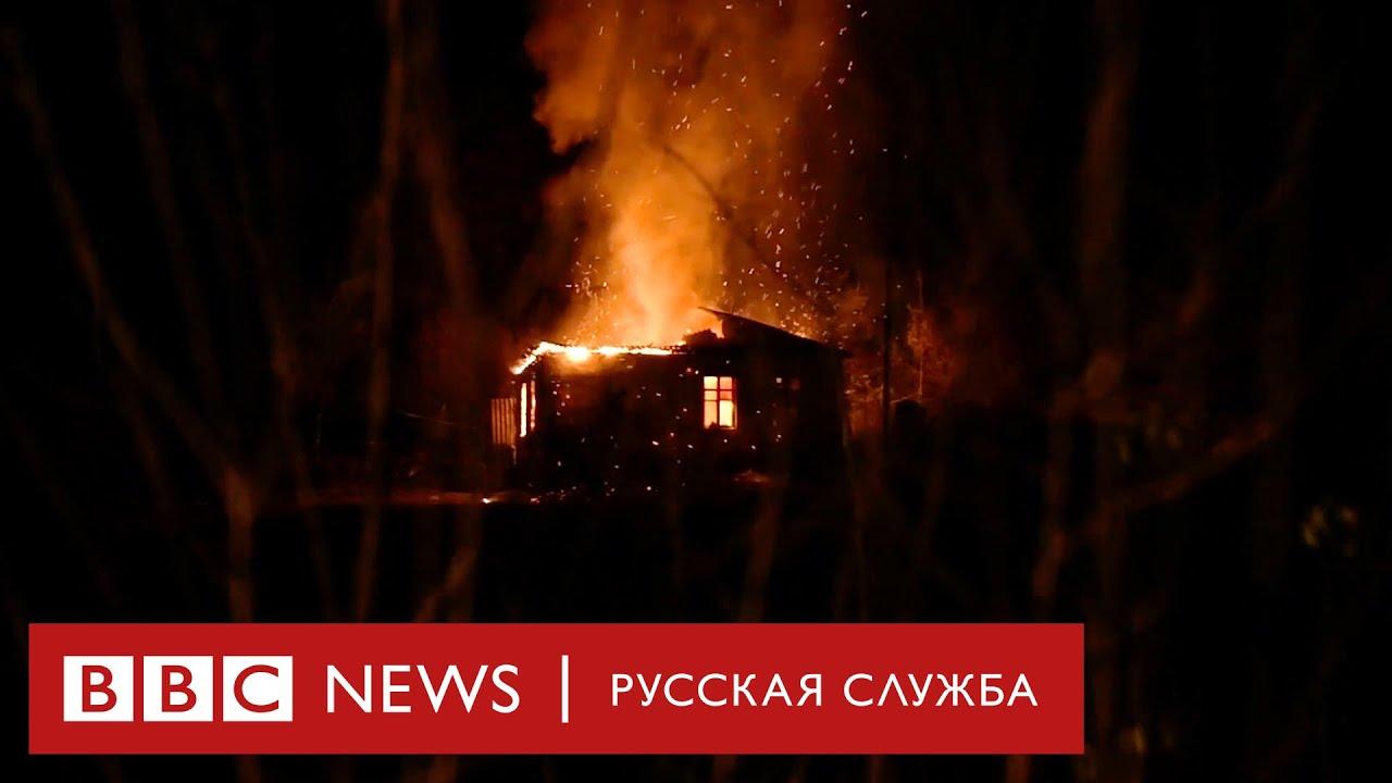 Армяне бегут из Карабаха, сжигая свои дома