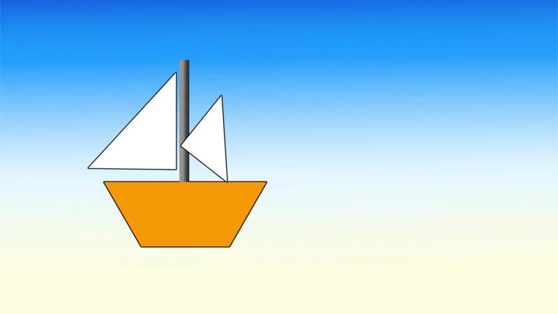 Играем в геометрию. Кораблик из геометрических фигур. Наше всё!